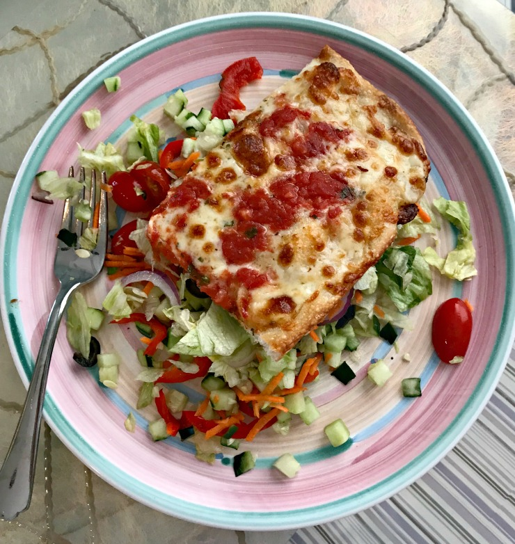 pizza and salad