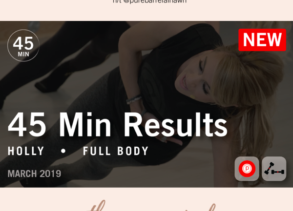 Week in Workouts (running & pure barre recap)