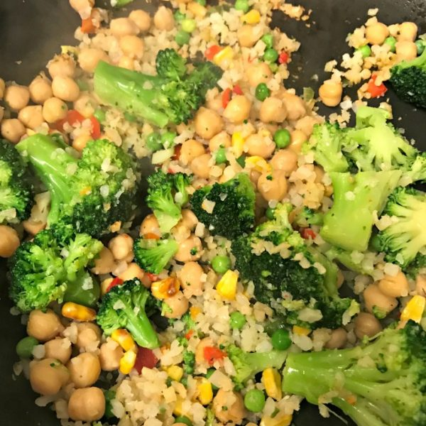 Running When Stressed + Recent Meals + Cauliflower Stir Fry