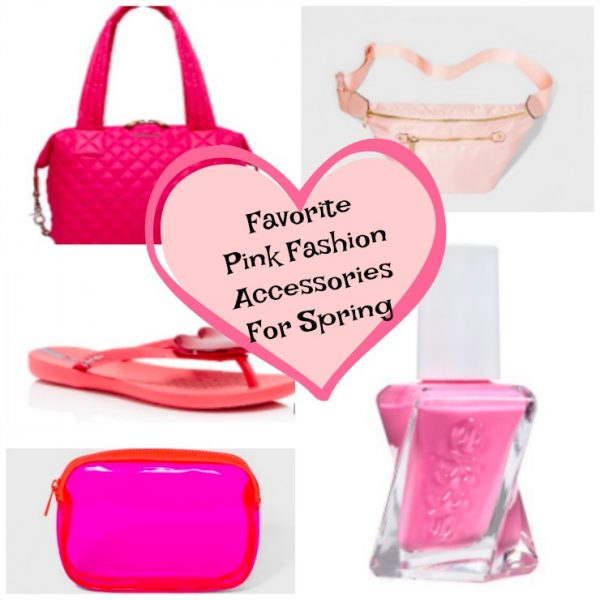 Favorite Pink Fashion Accessories For Spring (Pink Bags + Sandals + Makeup)