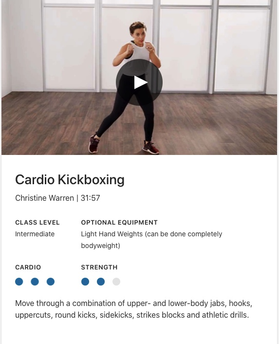 lifetime cardio kickboxing