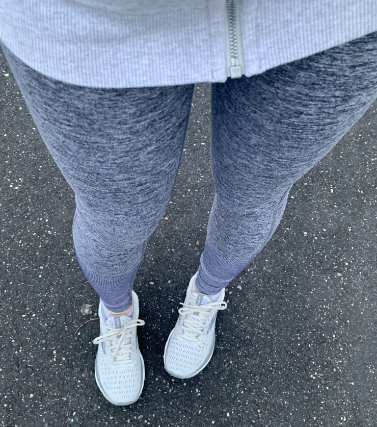 gray workout outfit